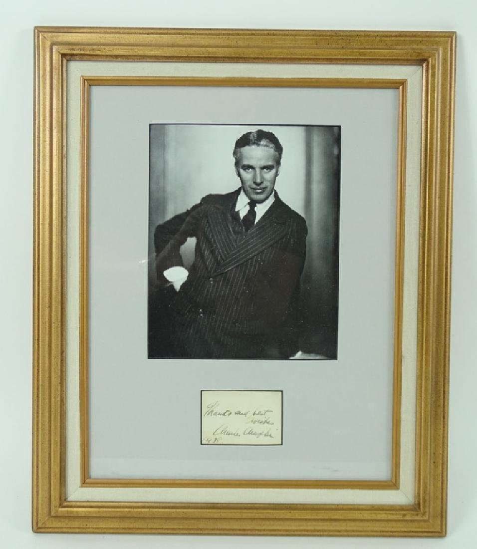Charlie Chaplin Framed Hand Signed Photograph - 2