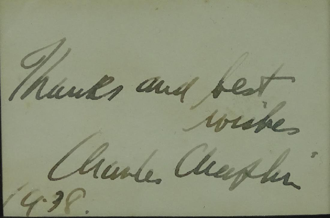 Charlie Chaplin Framed Hand Signed Photograph - 3