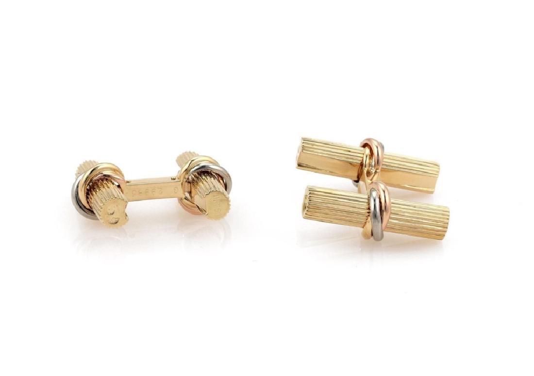 Cartier 18k Gold Gems changeable 8 Set Cufflinks - 4