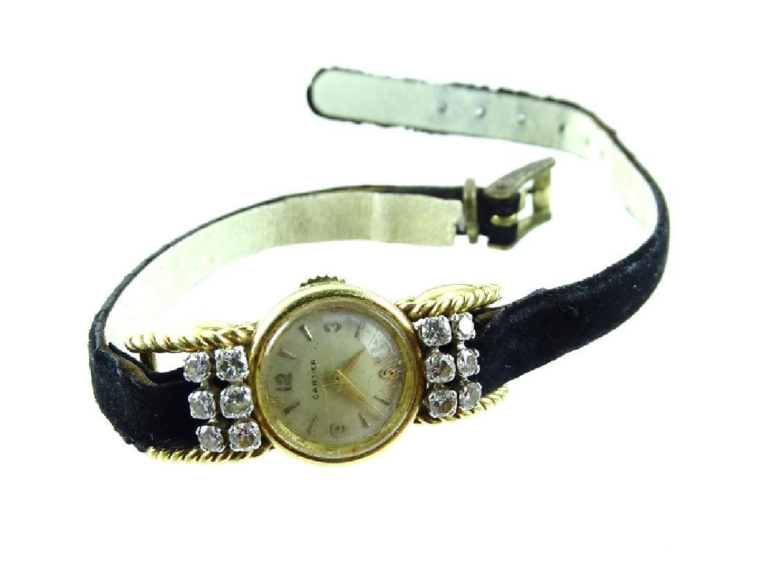 Vintage Cartier 18K Gold & Diamond Ladies Watch - 3