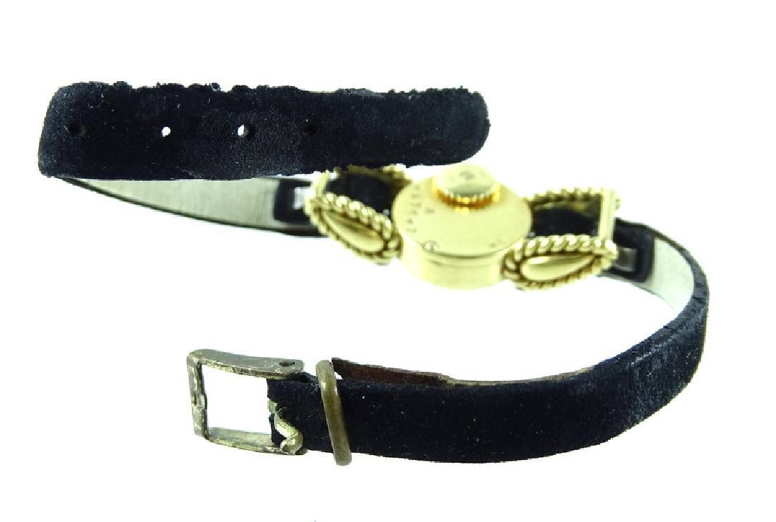 Vintage Cartier 18K Gold & Diamond Ladies Watch - 6