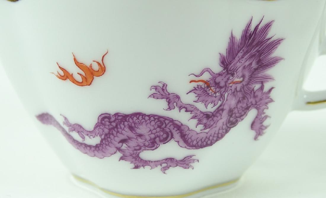 Antique Meissen German Porcelain Teacup & Saucer - 4