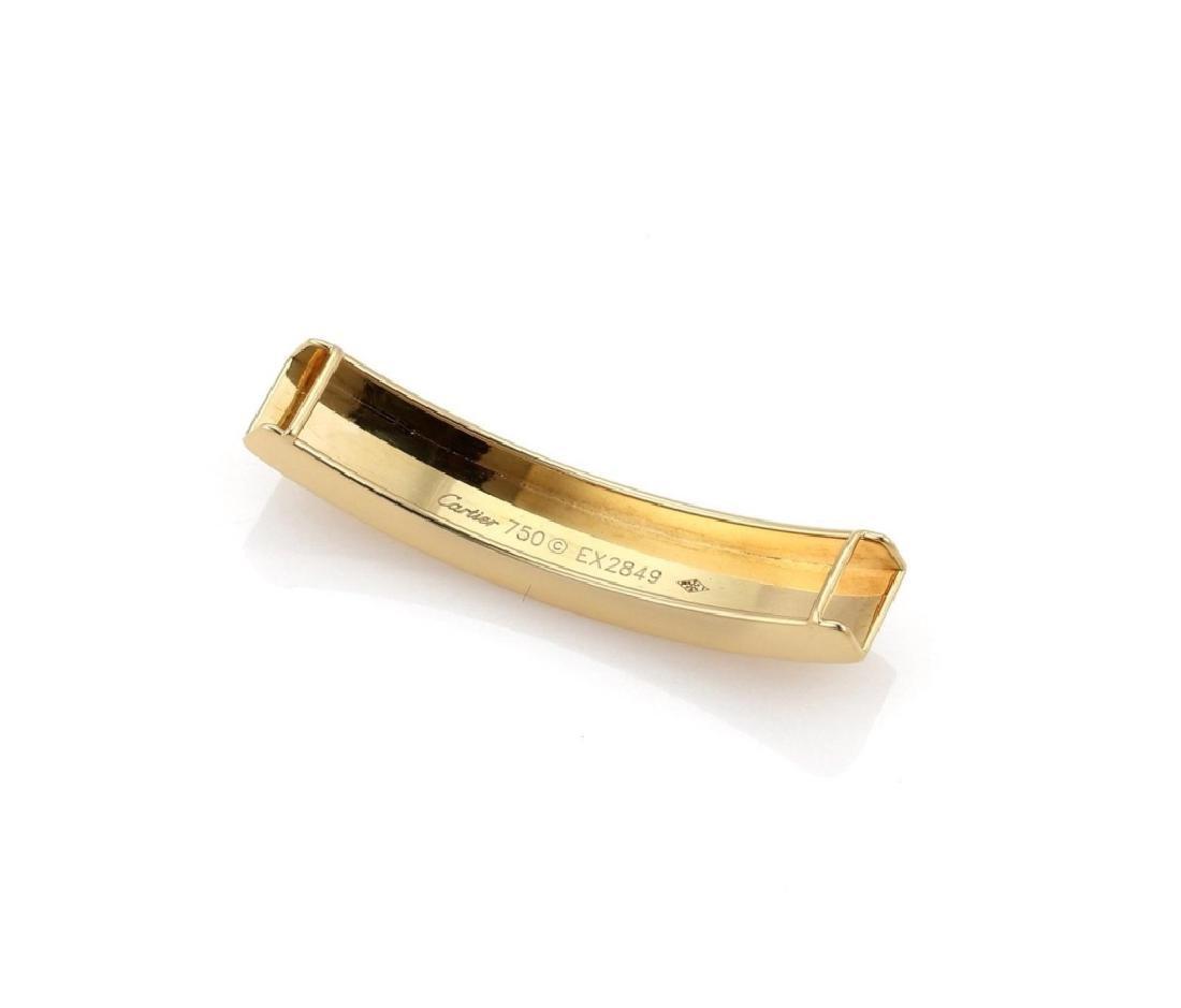 Cartier Love 18k Gold Slide Bar Leather Bracelet - 5