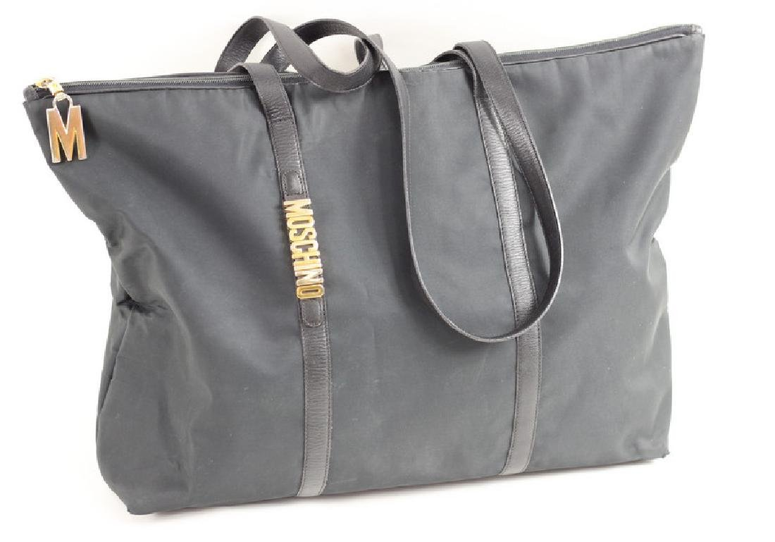 Moschino Black Nylon Tote Bag