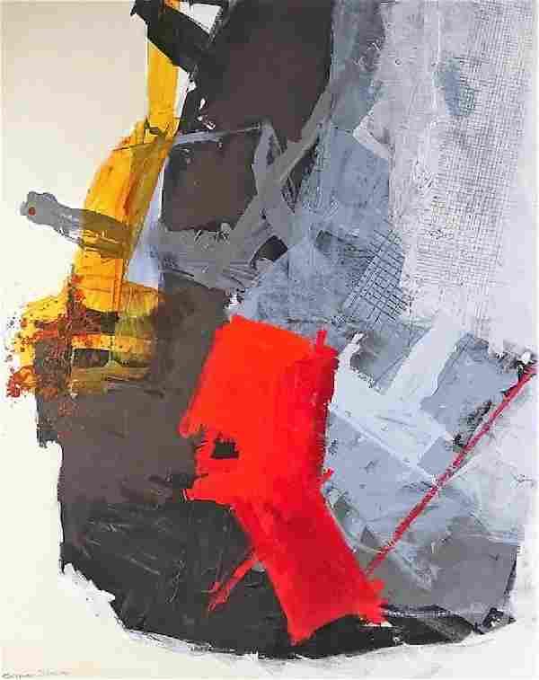 Calman Shemi Original Abstract Oil Painting Canvas