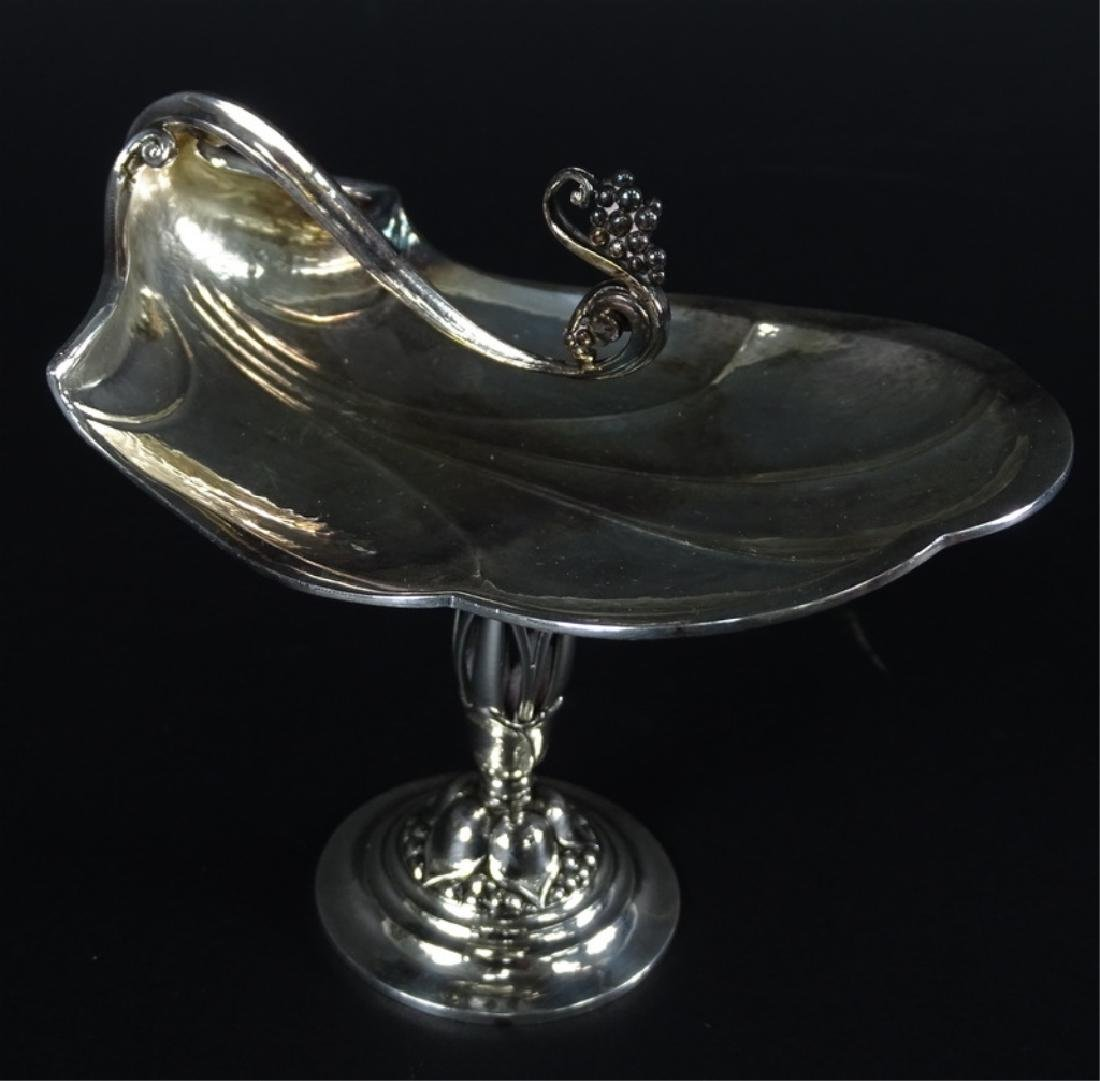 Antique Art Nouveau Sterling Silver Compote Dish