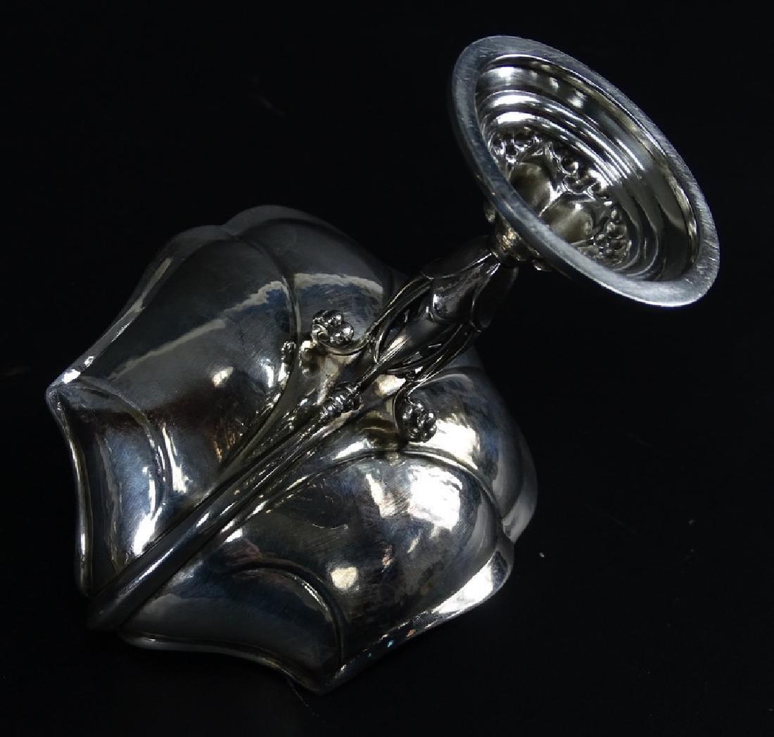 Antique Art Nouveau Sterling Silver Compote Dish - 3