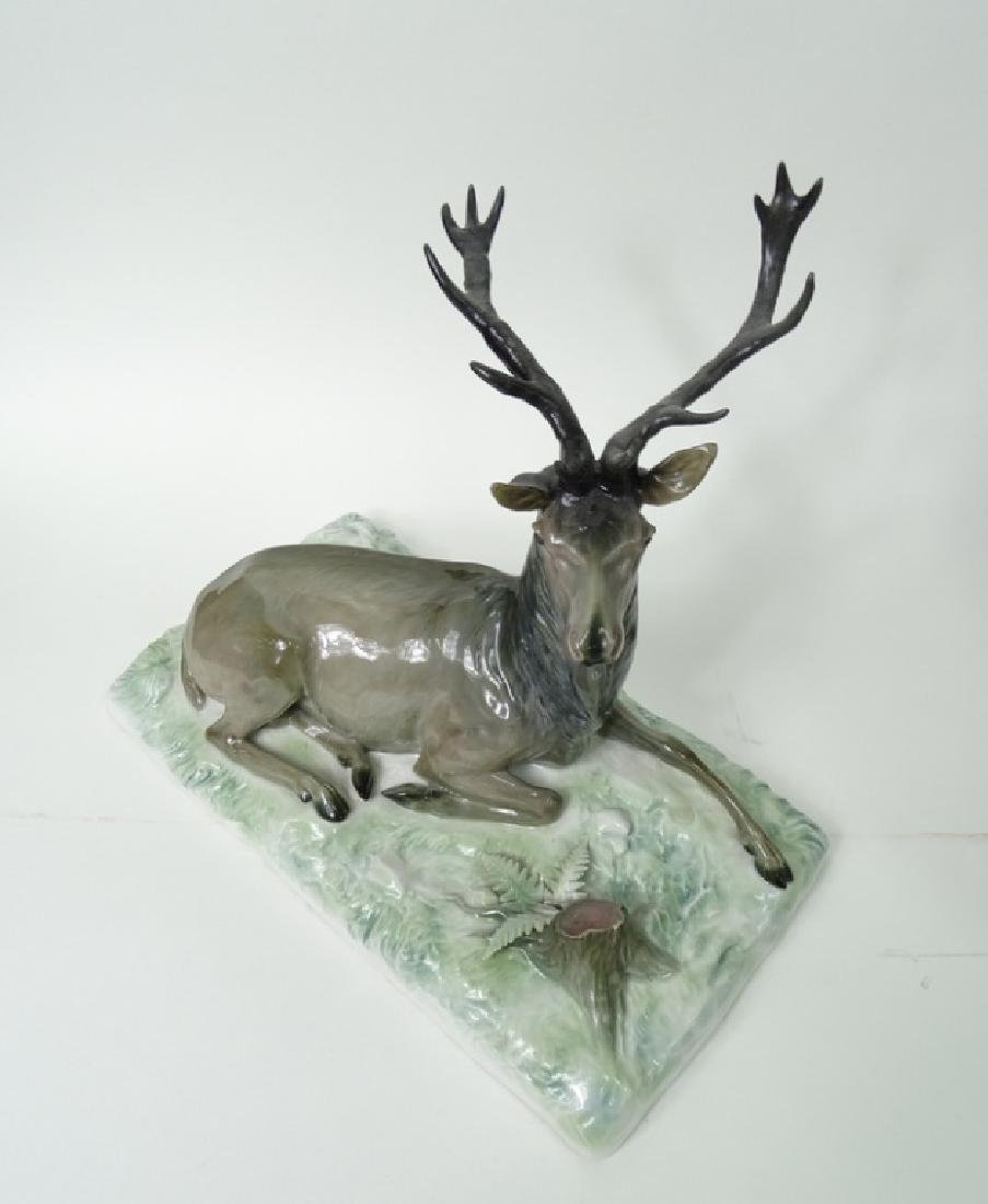 Large Meissen German Porcelain Deer/Stag Sculpture - 2