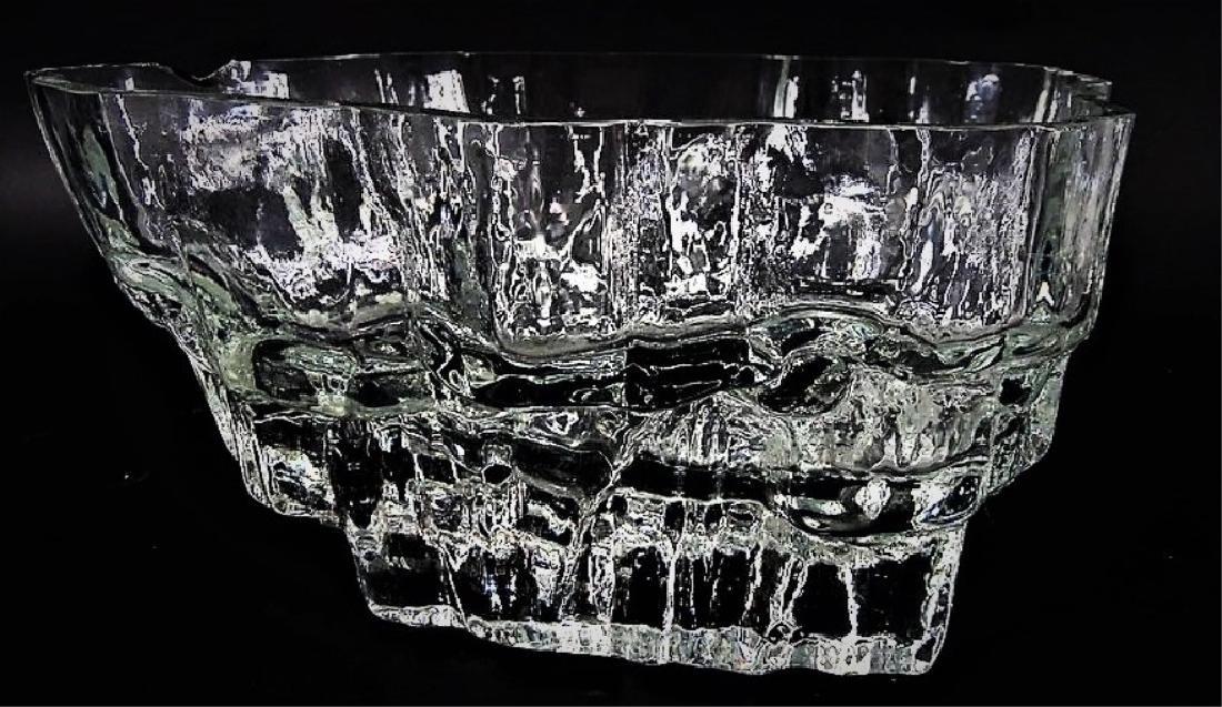 Tapio Wirkkala Iceberg Scandinavian Art Glass Bowl