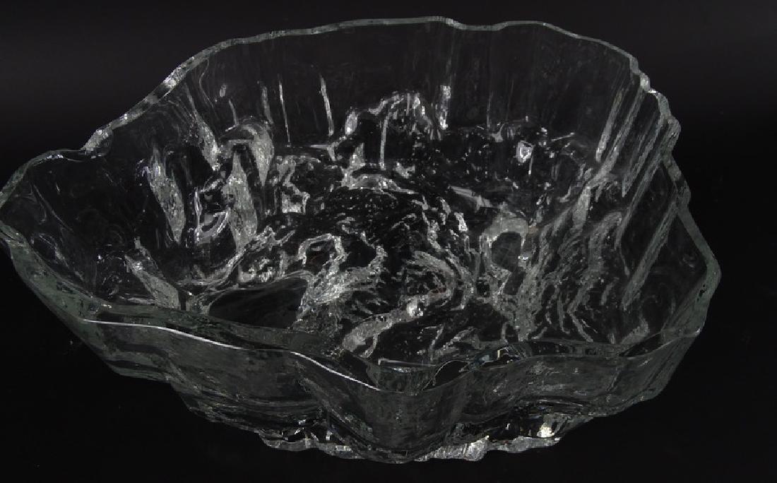 Tapio Wirkkala Iceberg Scandinavian Art Glass Bowl - 2