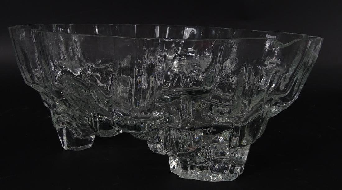 Tapio Wirkkala Iceberg Scandinavian Art Glass Bowl - 4