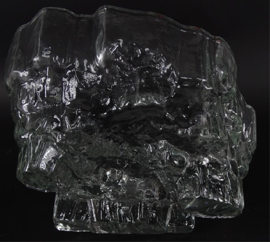 Tapio Wirkkala Iceberg Scandinavian Art Glass Bowl - 5