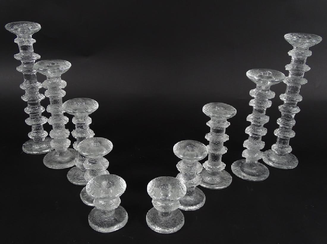 Tapio Wirkkala Scandinavian Art Glass Candlesticks