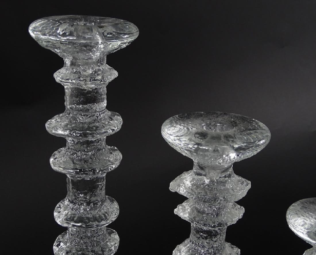 Tapio Wirkkala Scandinavian Art Glass Candlesticks - 3