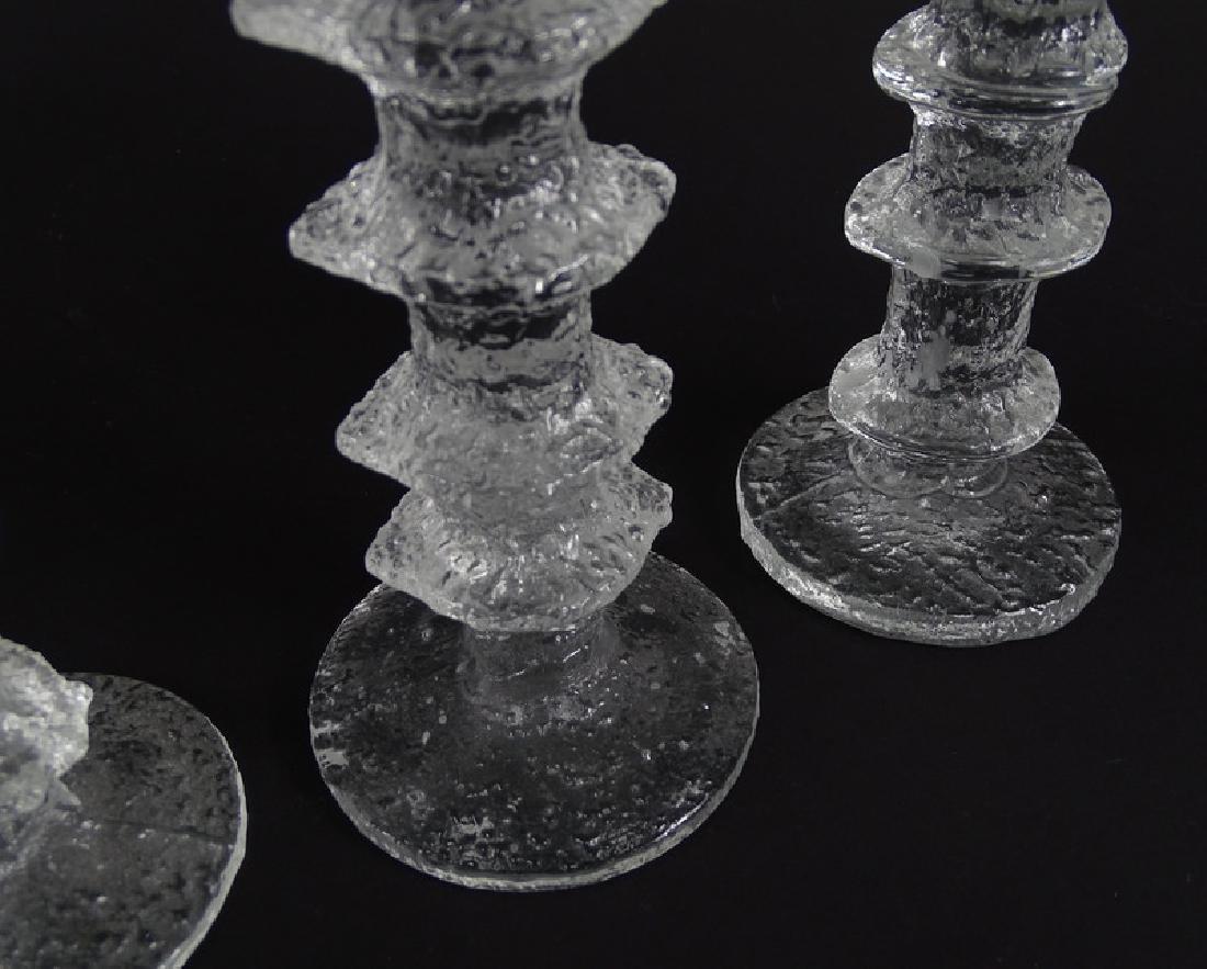 Tapio Wirkkala Scandinavian Art Glass Candlesticks - 5