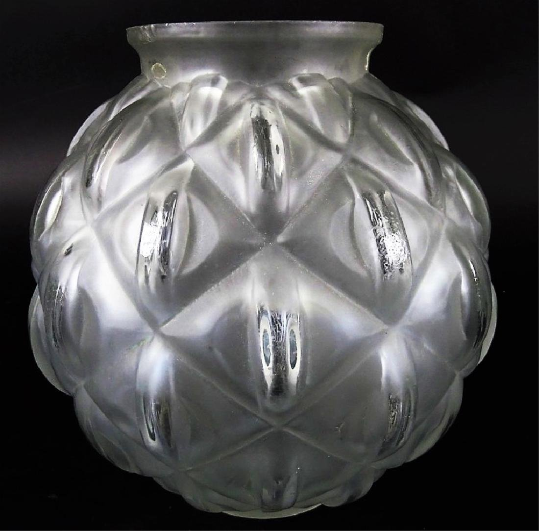 Art Deco French Glass Globular Flower Vase