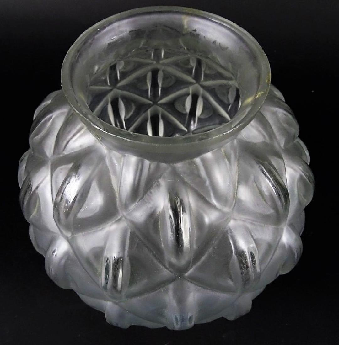 Art Deco French Glass Globular Flower Vase - 2