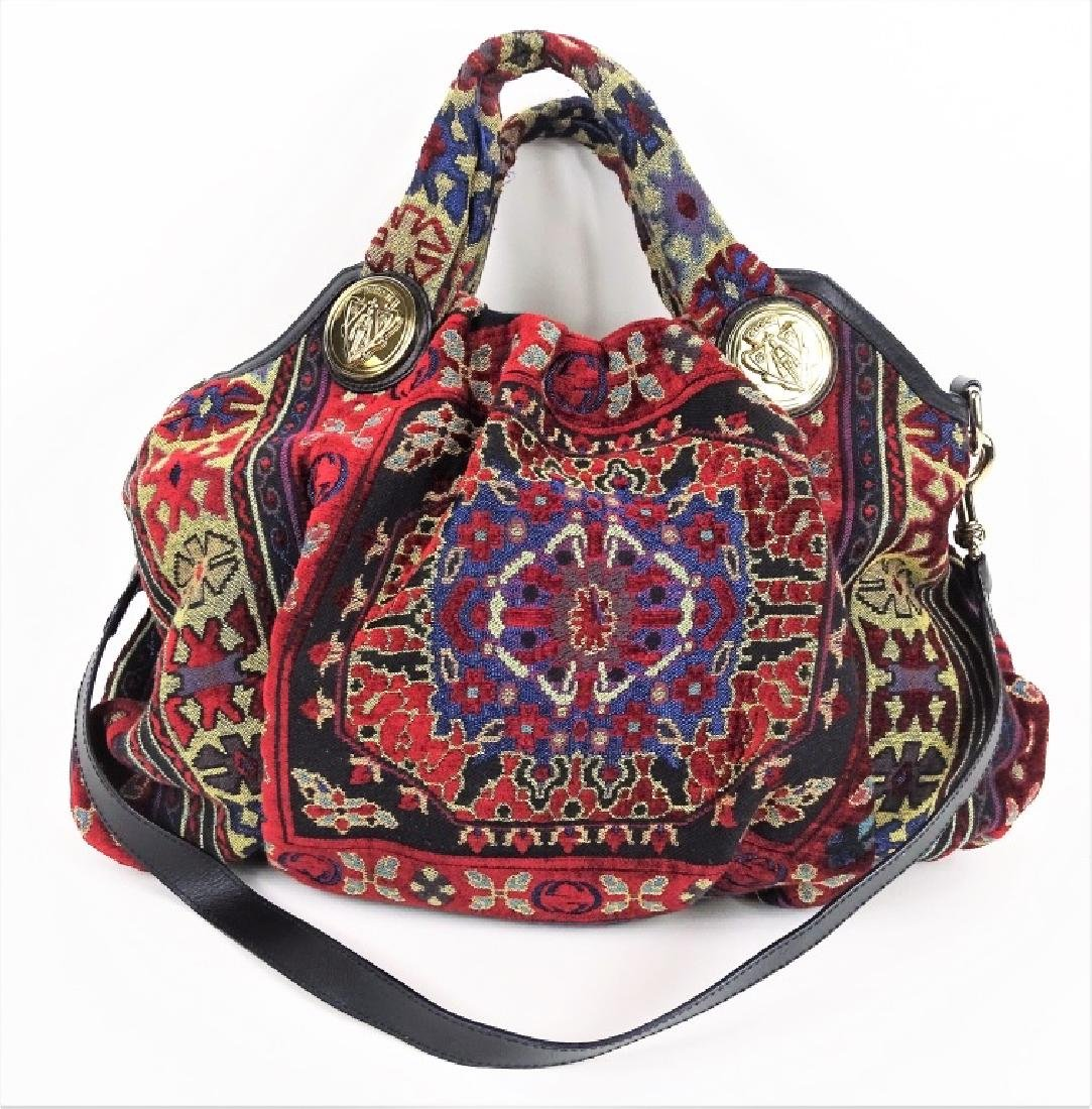 Gucci GG Hysteria Tapestry Satchel Hobo Hand Bag - 3