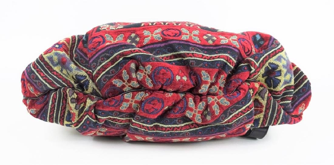 Gucci GG Hysteria Tapestry Satchel Hobo Hand Bag - 4