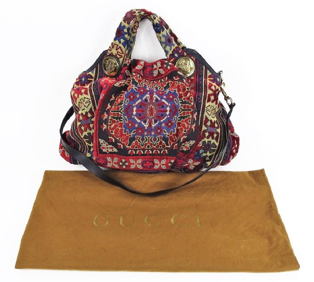 Gucci GG Hysteria Tapestry Satchel Hobo Hand Bag - 6