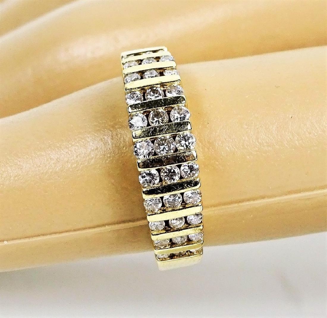 Estate 14K Yellow Gold & Diamond Ladies Ring
