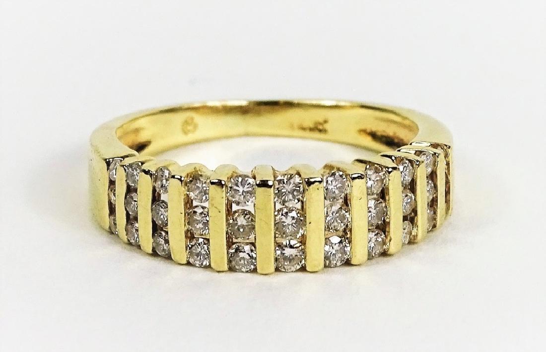 Estate 14K Yellow Gold & Diamond Ladies Ring - 2