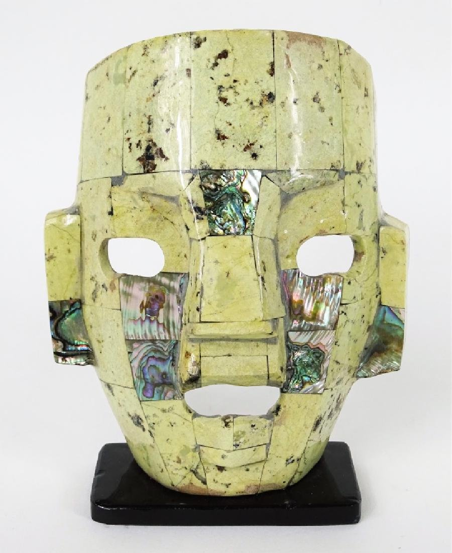 Carved Mother of Pearl Inlaid Mask & Card Cases - 2