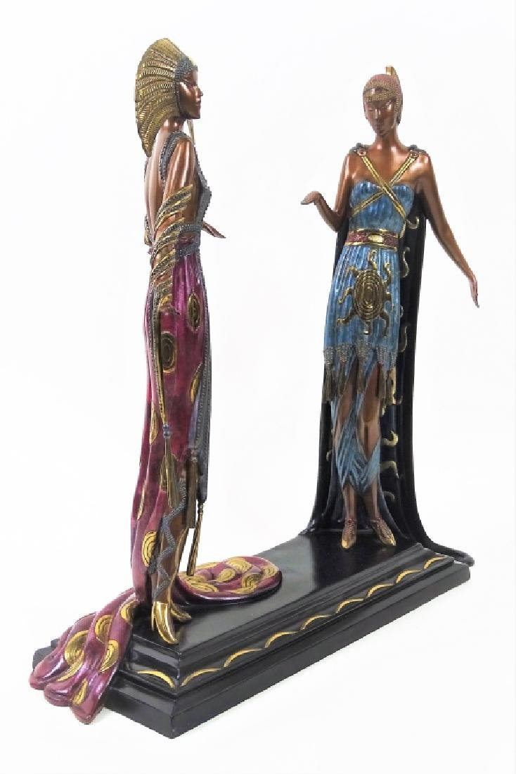 Rare Erte Bronze Statue Sculpture 'Two Vamps' - 2