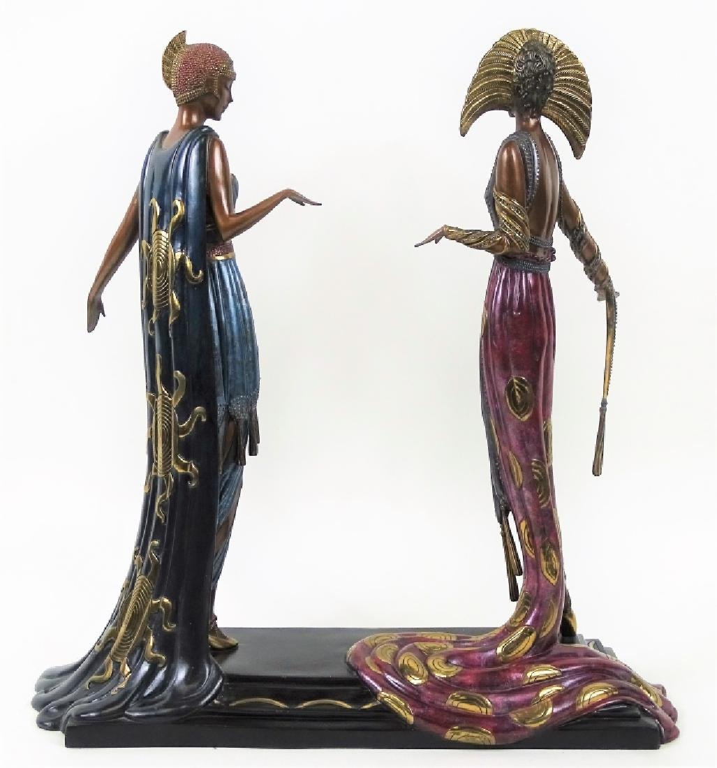 Rare Erte Bronze Statue Sculpture 'Two Vamps' - 6