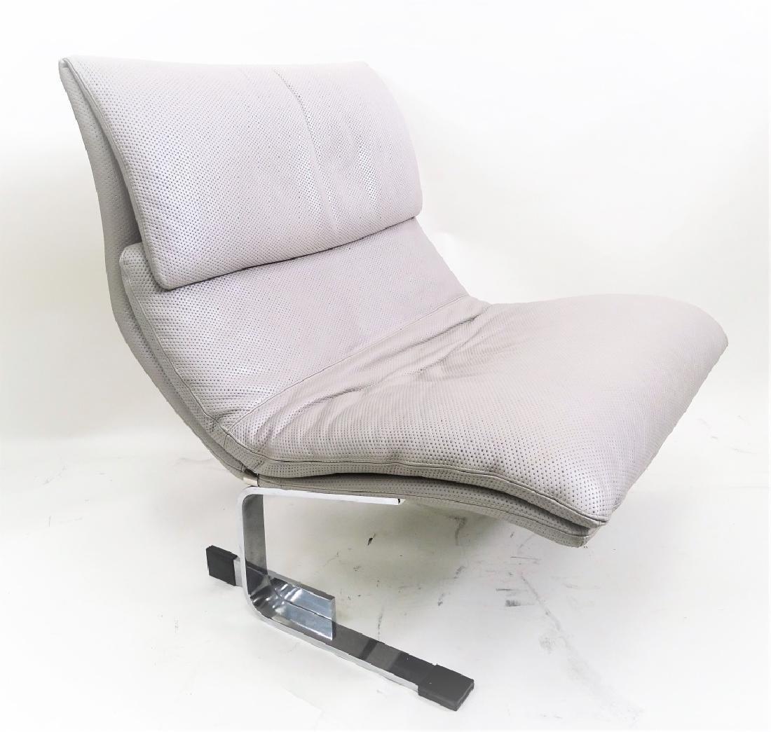 Two Fratelli Saporiti Italian Modern Lounge Chairs - 2