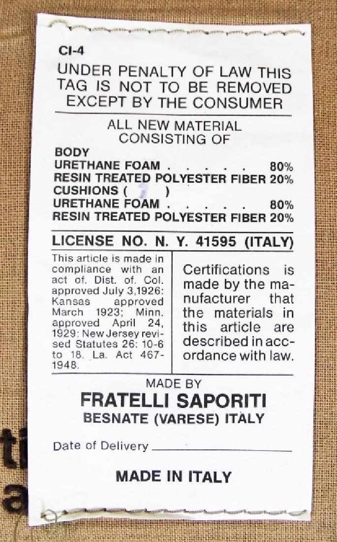 Two Fratelli Saporiti Italian Modern Lounge Chairs - 3