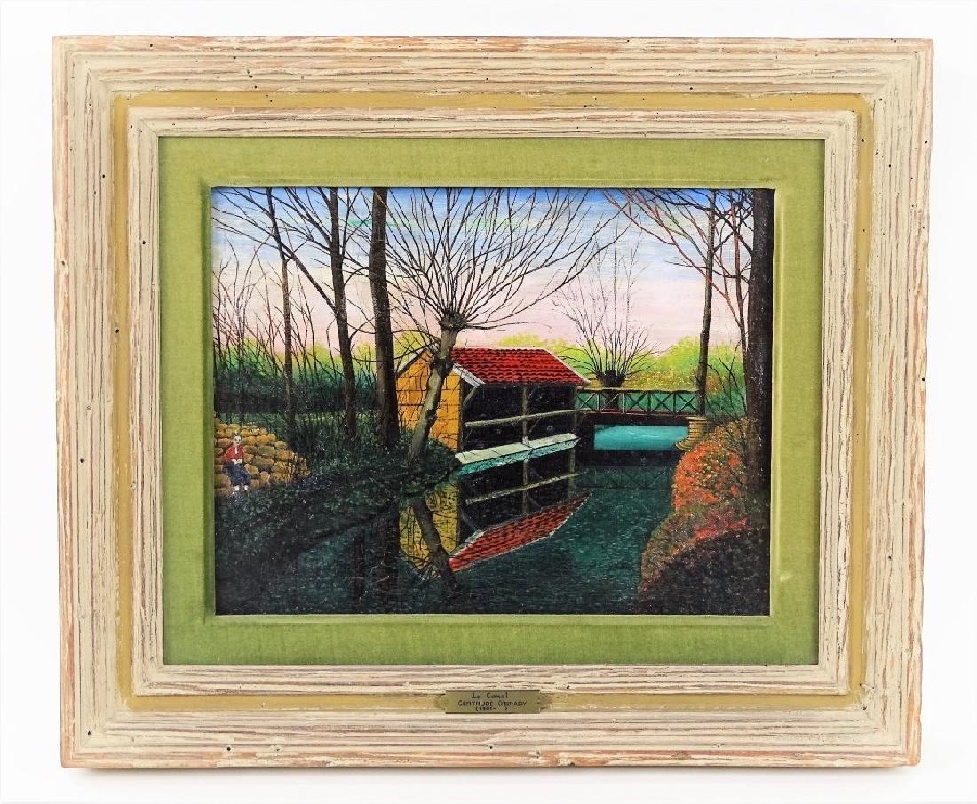 "Gertrude O'Brady ""Le Canal"" Original Oil Painting"