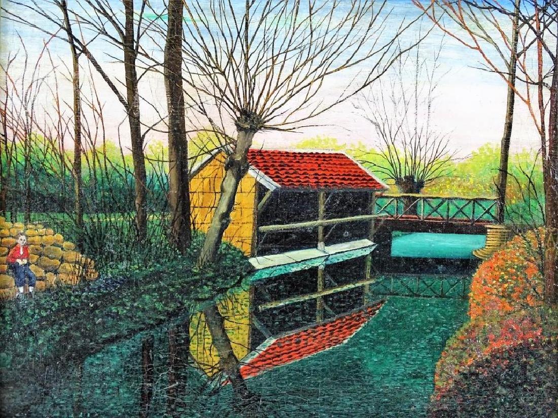 "Gertrude O'Brady ""Le Canal"" Original Oil Painting - 2"