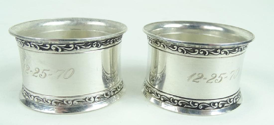 Pair of Wallace Sterling Repousse Napkin Rings