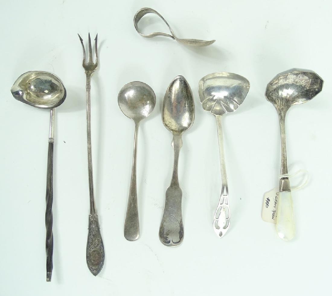 Misc Lot of Antique Sterling Silver Service Items