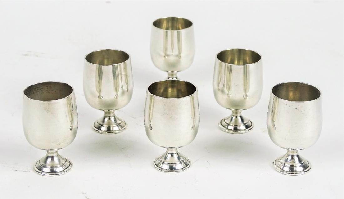 Six Baldwin Miller Sterling Silver Cordials Cups