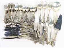 """86pc Wallace """"Sir Christopher"""" Sterling Silver Set"""