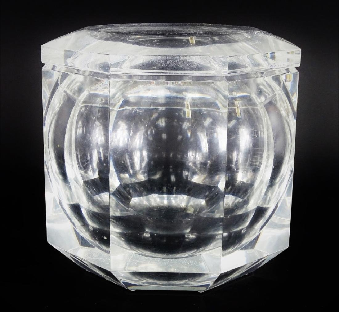 Mid Century Octagonal Lucite Champagne Ice Case