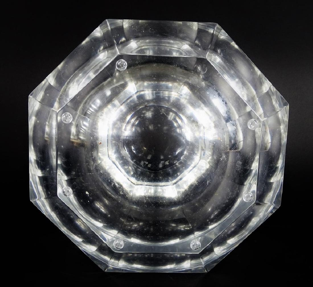 Mid Century Octagonal Lucite Champagne Ice Case - 4