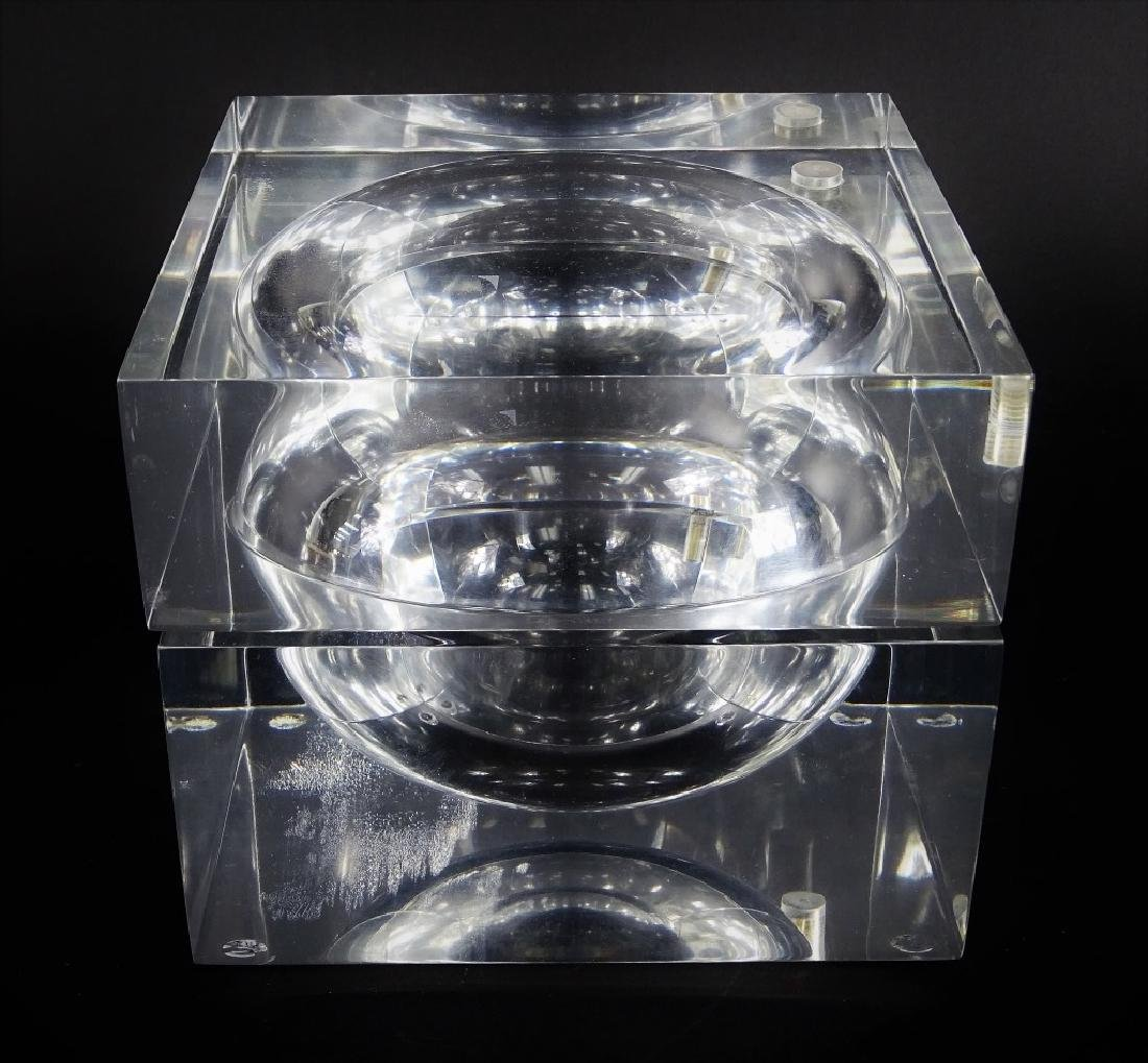 Mid Century Modern Lucite Swivel Ice Box