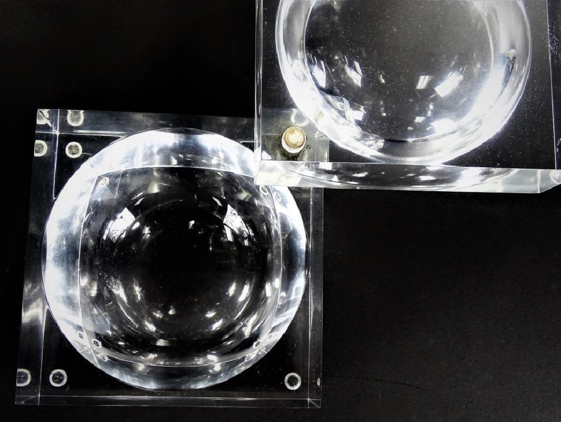 Mid Century Modern Lucite Swivel Ice Box - 3