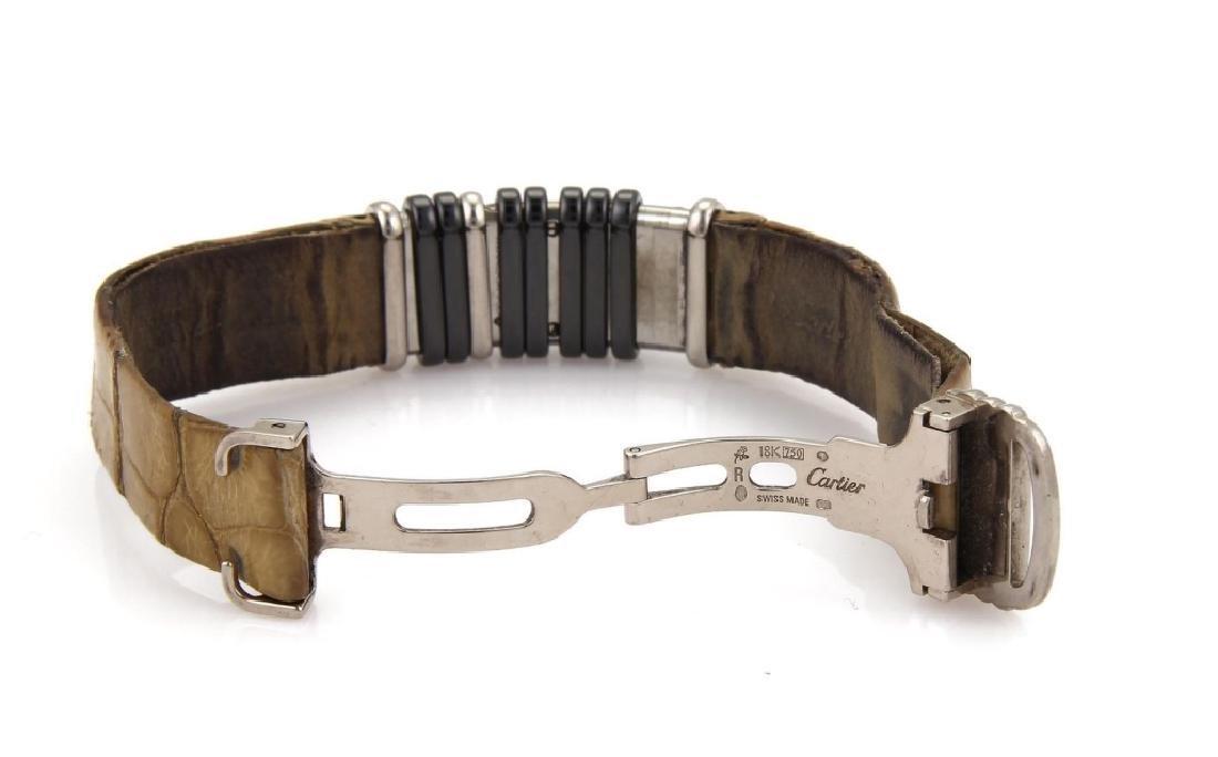 Cartier Diamond Titanium 18k Gold Leather Watch - 6