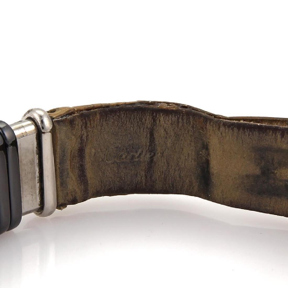 Cartier Diamond Titanium 18k Gold Leather Watch - 7