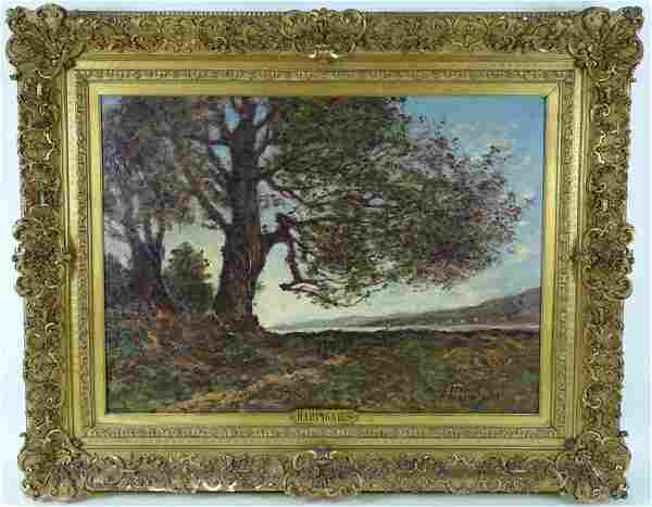 Henri Joseph Harpignies Orig 19th C. Oil Painting