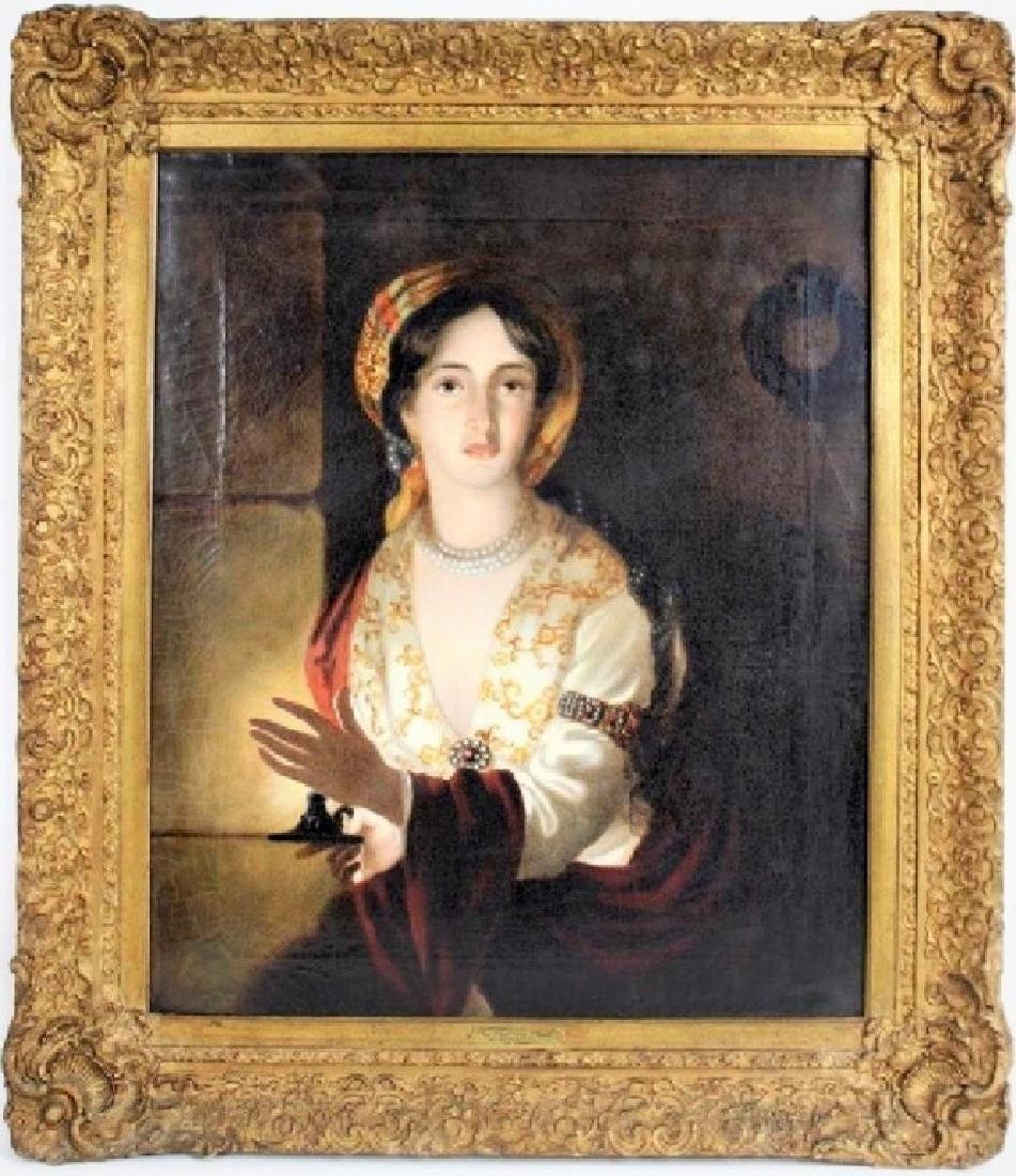 Attrib Antique OIl Painting Joseph Wright of Derby