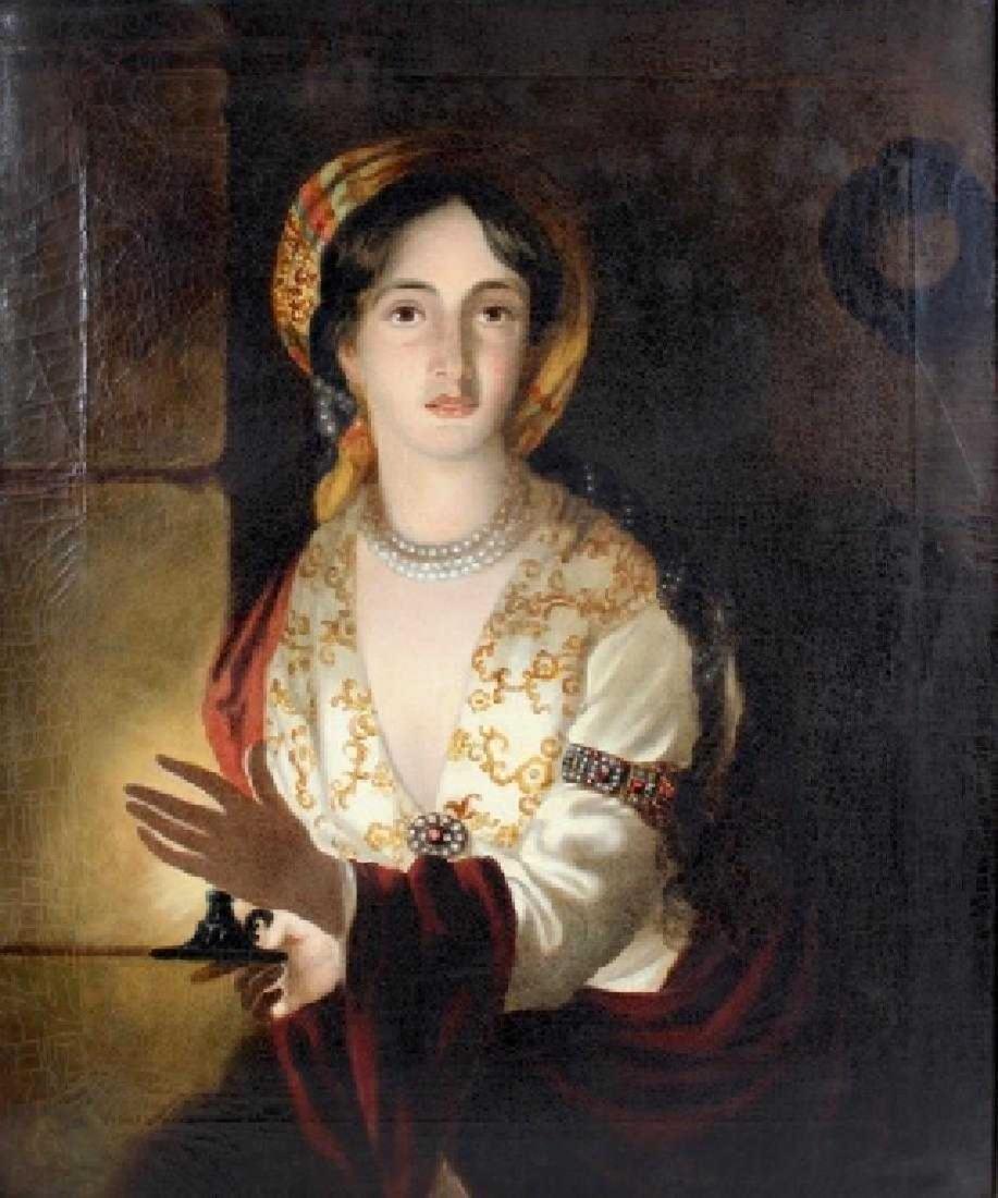 Attrib Antique OIl Painting Joseph Wright of Derby - 2