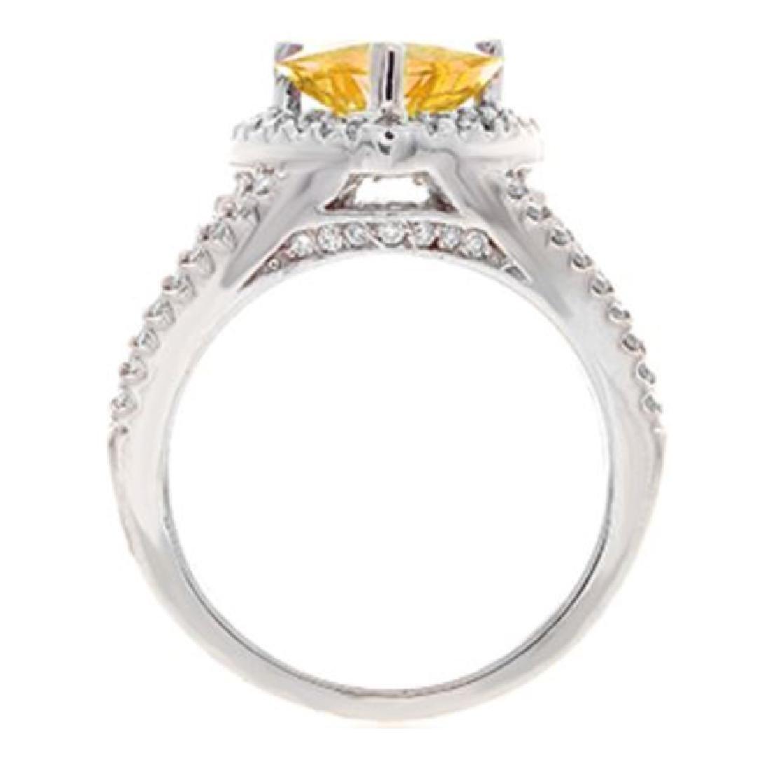 3.23 ct. Yellow Sapphire and Diamond Ring - 2