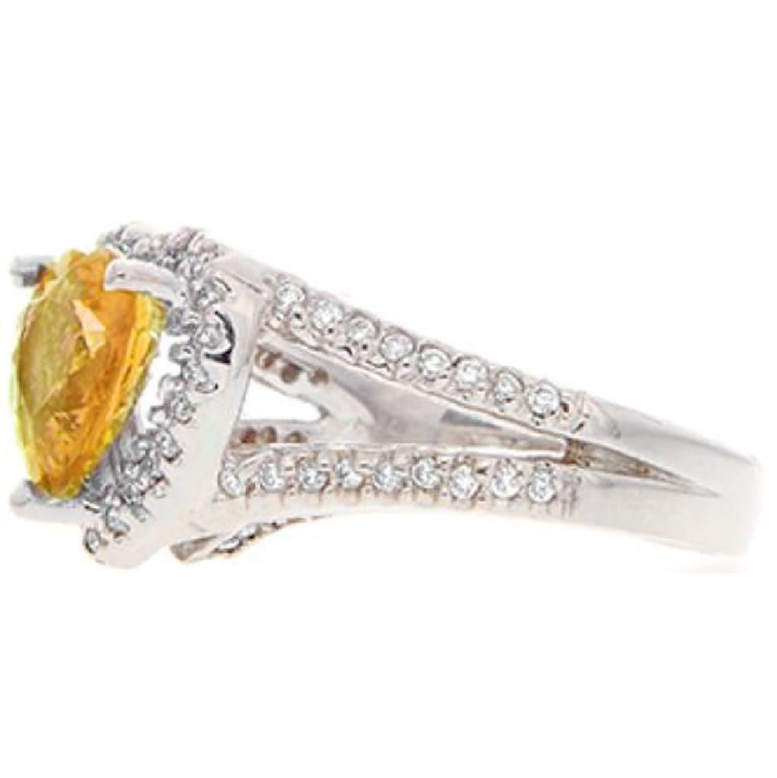 3.23 ct. Yellow Sapphire and Diamond Ring - 3