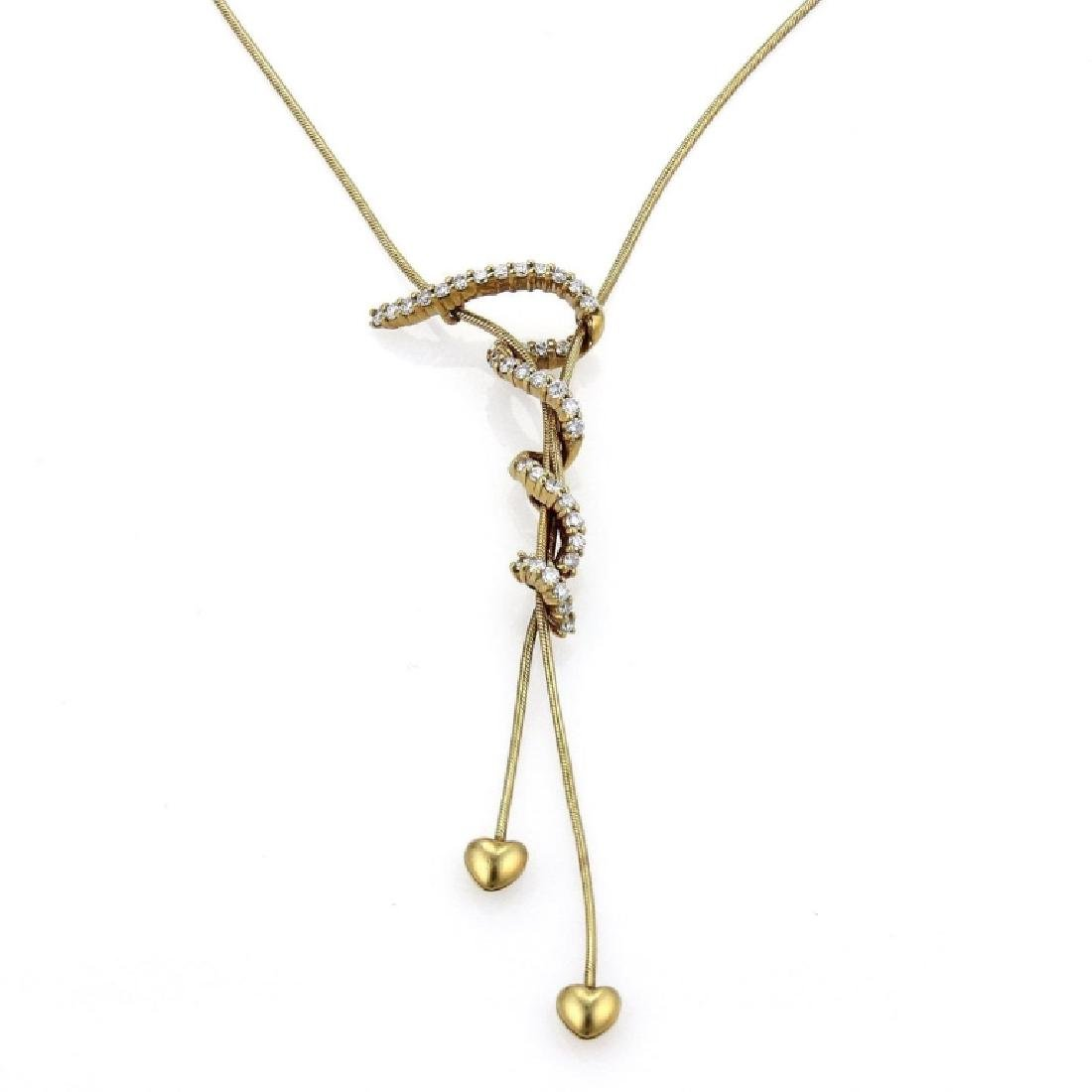 Jose Hess Diamond 18k Gold Pendant Necklace