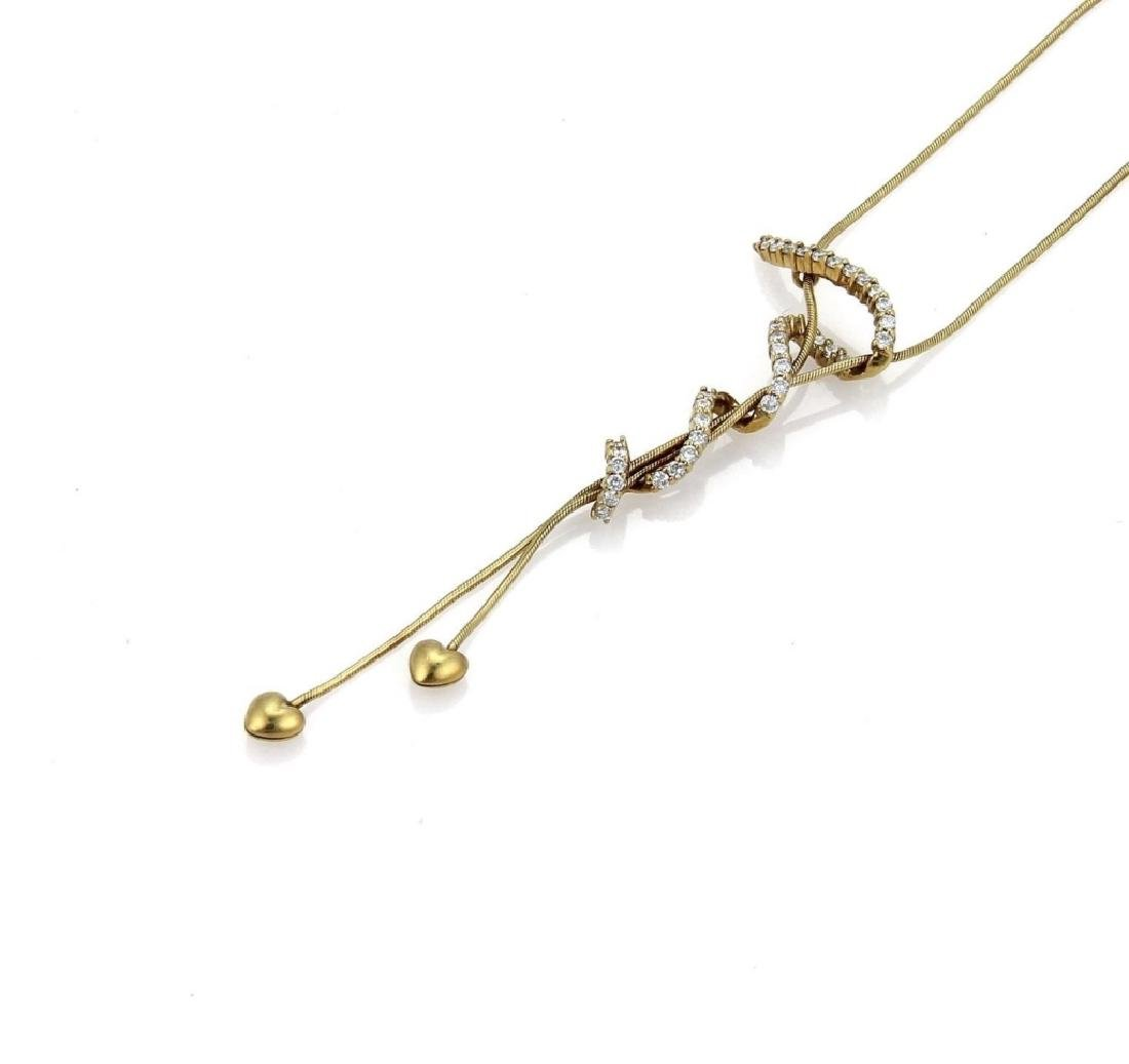 Jose Hess Diamond 18k Gold Pendant Necklace - 3
